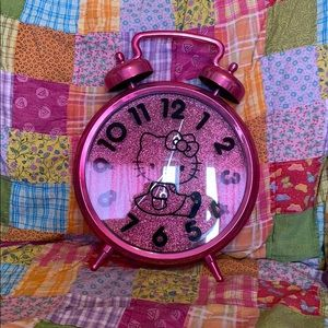 Pink sparkle Hello Kitty Clock!